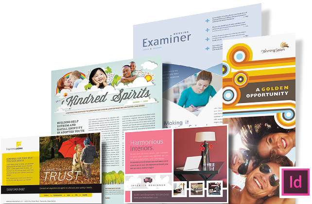 InDesign Templates & Layouts - Brochures, Flyers, Newsletters, Postcards