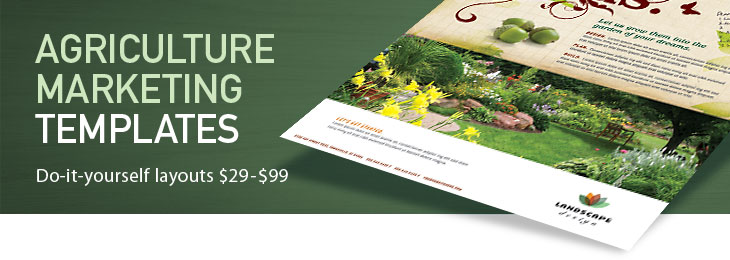 Agriculture farming marketing brochures flyers designs for Agriculture brochure templates