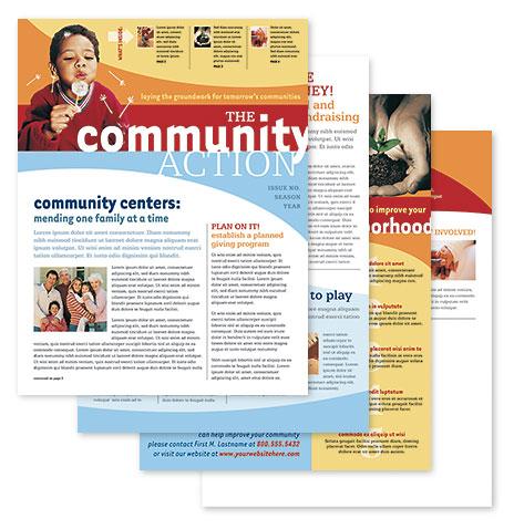 8.5x11 4-Page Newsletter Layout PDF