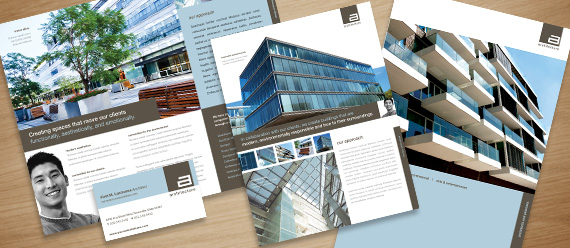 Architect Marketing Brochure Flyer Ad Designs
