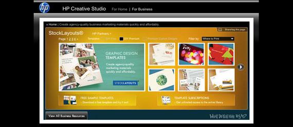 creative studio  hp u2019s web solution for creative print