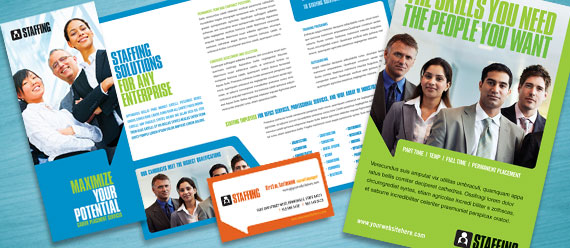 Staffing Agency Brochure, Postcard, Flyer & Ad Designs