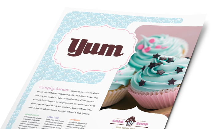 Food Beverage Templates Designs on yogurt shop design ideas