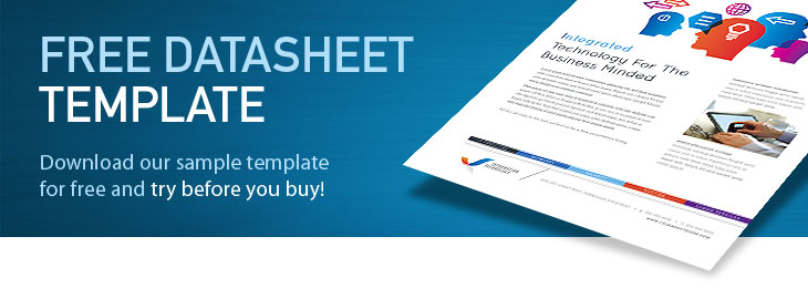 Free datasheet templates download datasheet designs for Marketing brochure templates free
