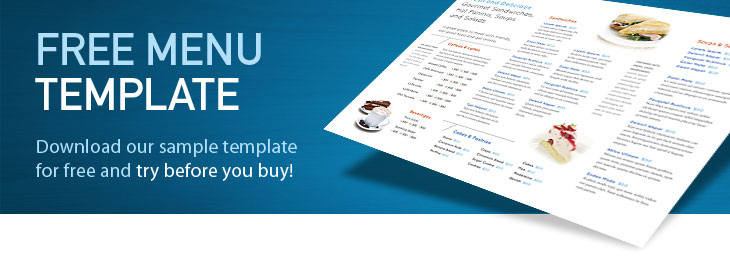 Free Restaurant Menu Templates Download Menu Designs  Free Restaurant Menu Template Word