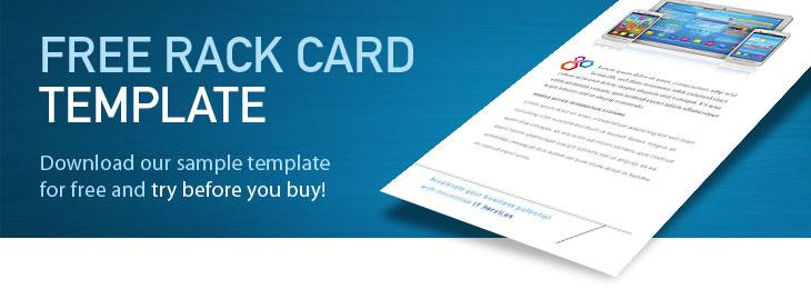 free rack card templates