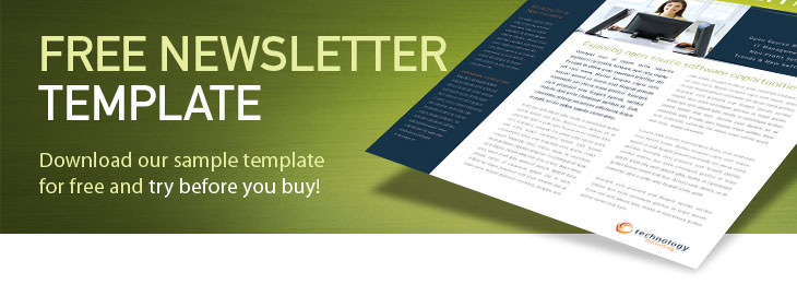 Free newsletter templates sample newsletters examples for Newsletter layout templates free download
