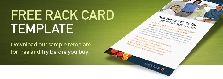 Free rack card template sample rack card examples for Rack card template for word