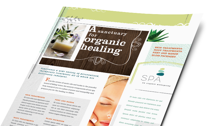 Health & Beauty Marketing - Brochures, Flyers, Newsletters - Graphic Designs