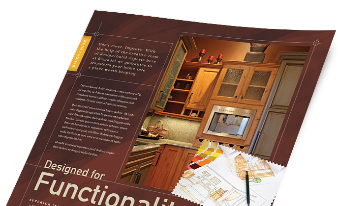 Home Maintenance Marketing - Brochures, Flyers, Newsletters - Graphic Designs