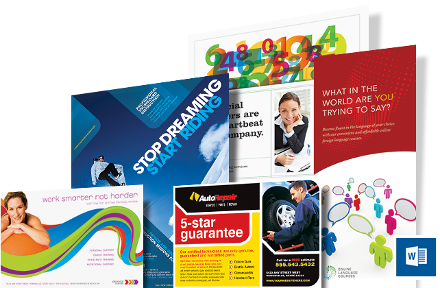 Microsoft Word Templates & Layouts - Brochures, Flyers, Newsletters, Postcards