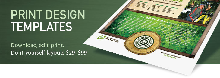 Print Design Templates: Brochures, Flyers, Newsletters, Postcards, Letterheads, Business Cards