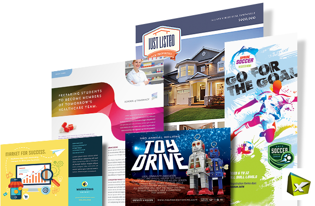 QuarkXPress Templates & Layouts - Brochures, Flyers, Newsletters, Postcards