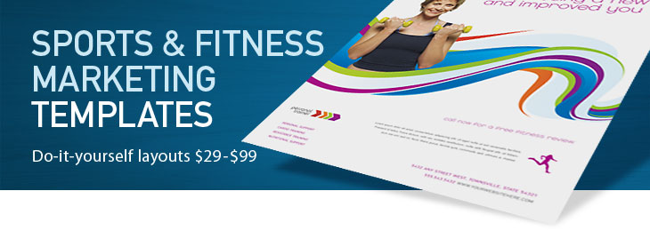 Sports & Fitness Brochures, Flyers, Newsletters, Sports & Fitness Templates