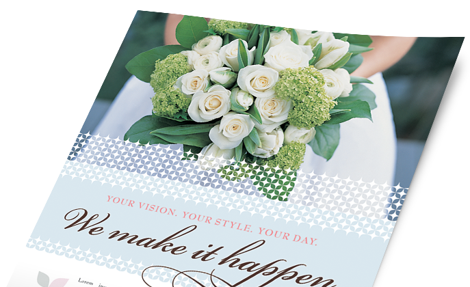 Wedding & Event Planning Marketing - Brochures, Flyers, Newsletters - Graphic Designs