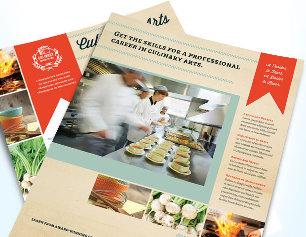Culinary Arts School - Marketing Templates