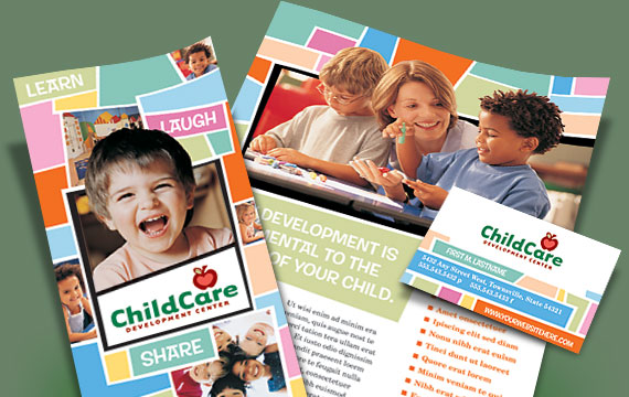 create attractive daycare advertisements and flyers quickly and