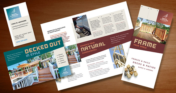 Business Marketing Templates  Decks &amp; Fencing