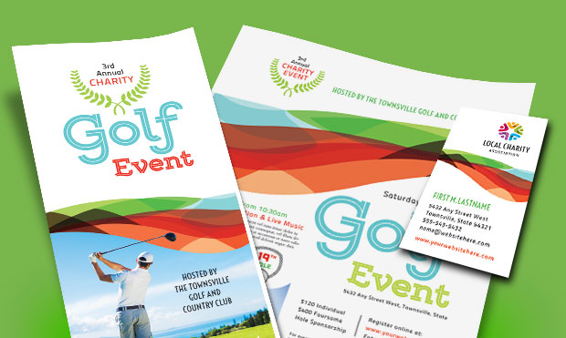 Golf Tournament Marketing - Registration Brochure, Flyer, Postcard Design