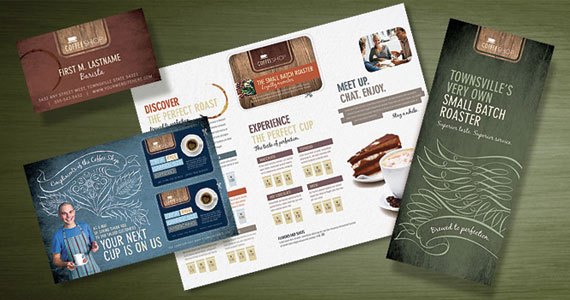 Coffee Shop Brochures, Flyers, Postcards