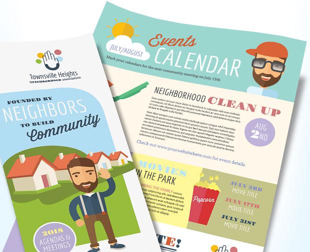 Homeowners Association Marketing (HOA) - Newsletter, Brochure, Flyer - Design Ideas