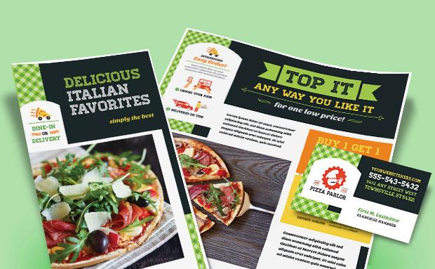 Italian Pizza - Menu, Postcard, Flyer, Advertisement - Graphic Design Ideas