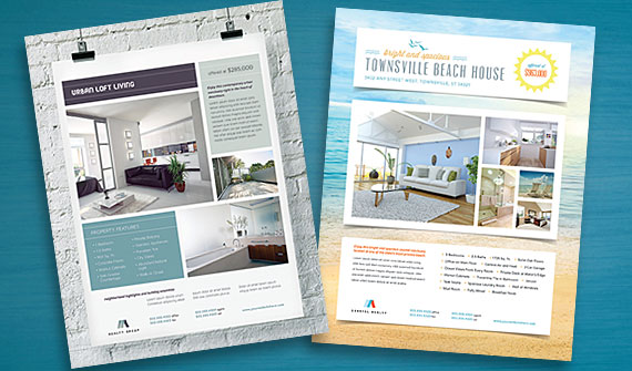 real estate flyer templates edit and print graphic
