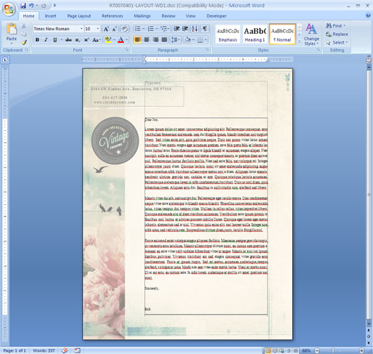 Microsoft word graphic design ideas inspiration stocklayouts blog for Microsoft word graphic design