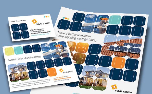 Solar Energy - Renewable Energy - Creative Marketing Materials