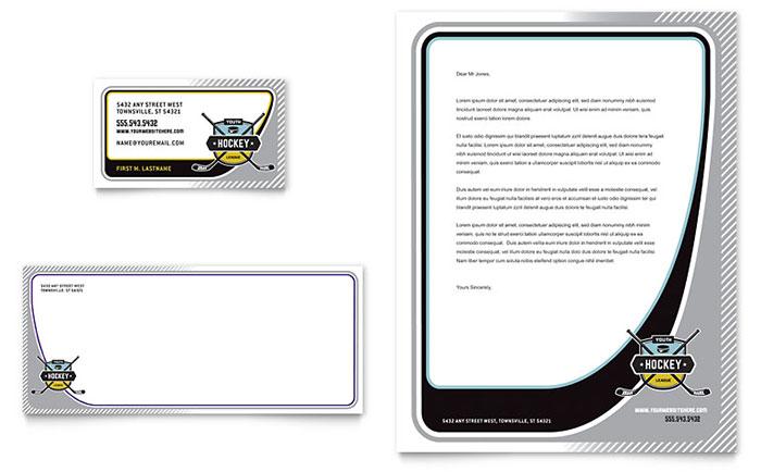 Stationery Design - Hockey Sports