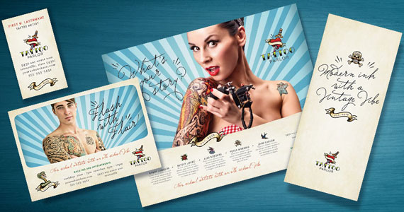 Tattoo Artist Brochures, Flyers, Postcards