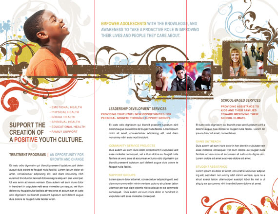 Tri Fold Brochure Inside Spread Fold Lines