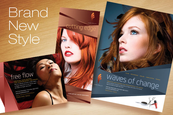 Marketing Templates for Hair Stylists - DTG Magazine design templates