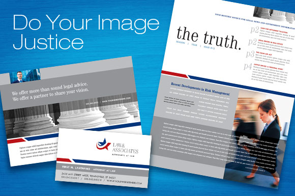 Legal & Government Services: Newsletter, Flyer & Ads, Brochure, Stationery