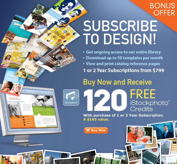 120 Free iStockphoto Credit with 1 or 2 Year Template Library Subscription