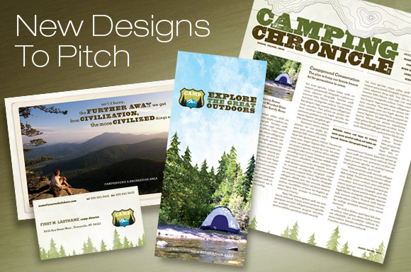 Campgrounds, Parks & Recreation: Brochure, Newsletter, Postcard, Stationery