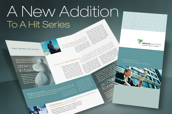 tri fold brochure template for a financial service company