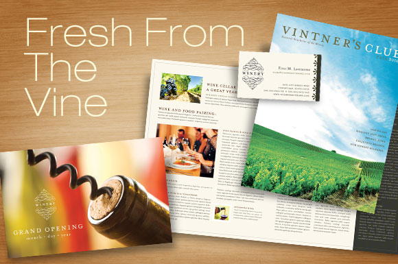 Winery Business Graphic Design Templates