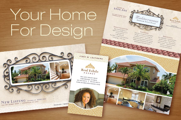 Real Estate Marketing - Flyer, Newsletter and Postcard Templates