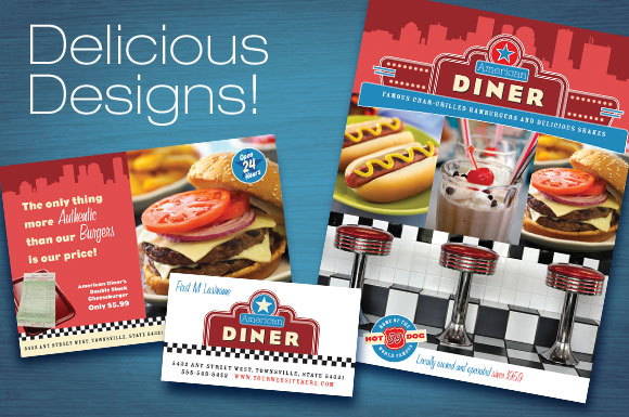 Design Update: New American Diner Restaurant Marketing Templates
