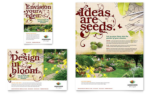 Landscape Design Flyer & Ad Template Design