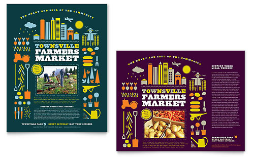 Farmers Market Poster Template Design