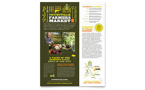 Farmers Market Flyer Template Design