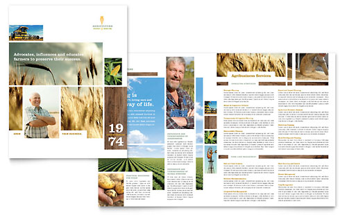 Farming & Agriculture Brochure Design Template