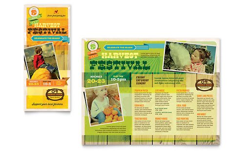 Harvest Festival Brochure Template Design