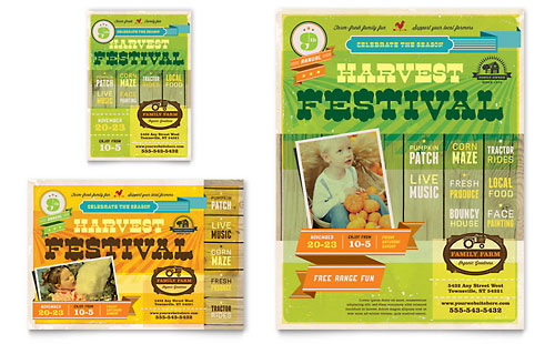 Harvest Festival Flyer & Ad Template Design