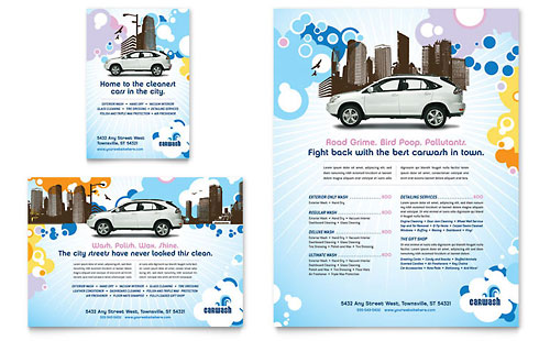 Car Wash Flyer & Ad Template Design