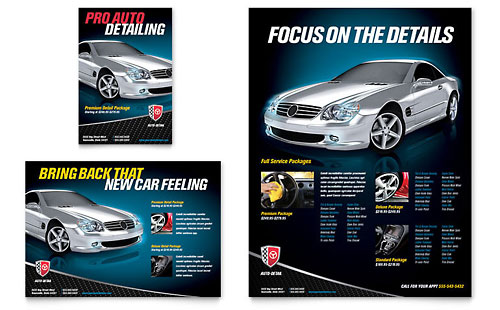Auto Detailing Flyer & Ad Template Design