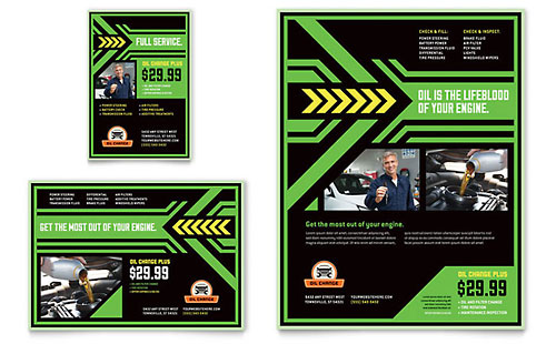 Oil Change Flyer & Ad Template Design