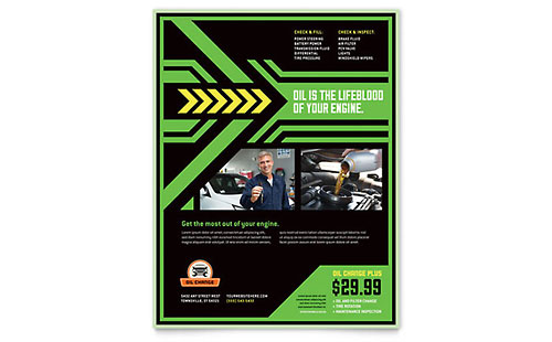 Oil Change Flyer Template Design